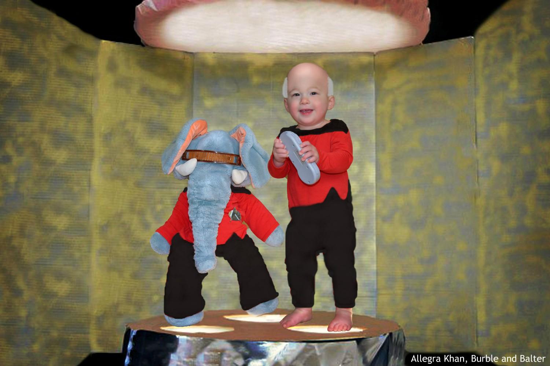 Picard and Geordi, Star Trek the Next Generation