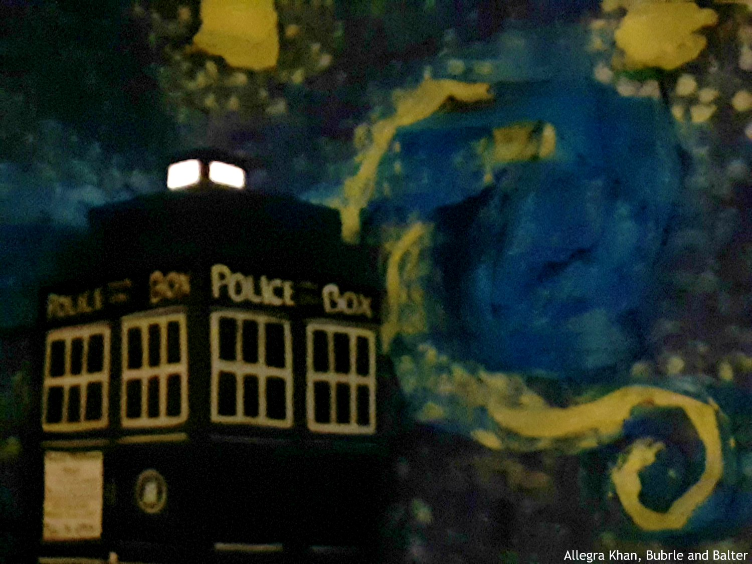 Tardis and Starry Night in the Dark