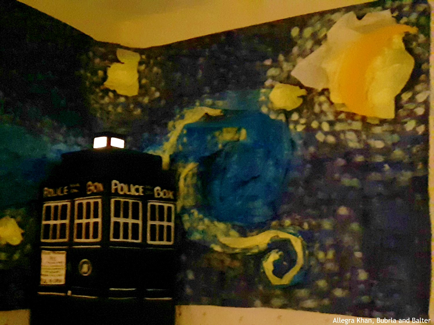 Tardis and Starry Night in the Dark 2