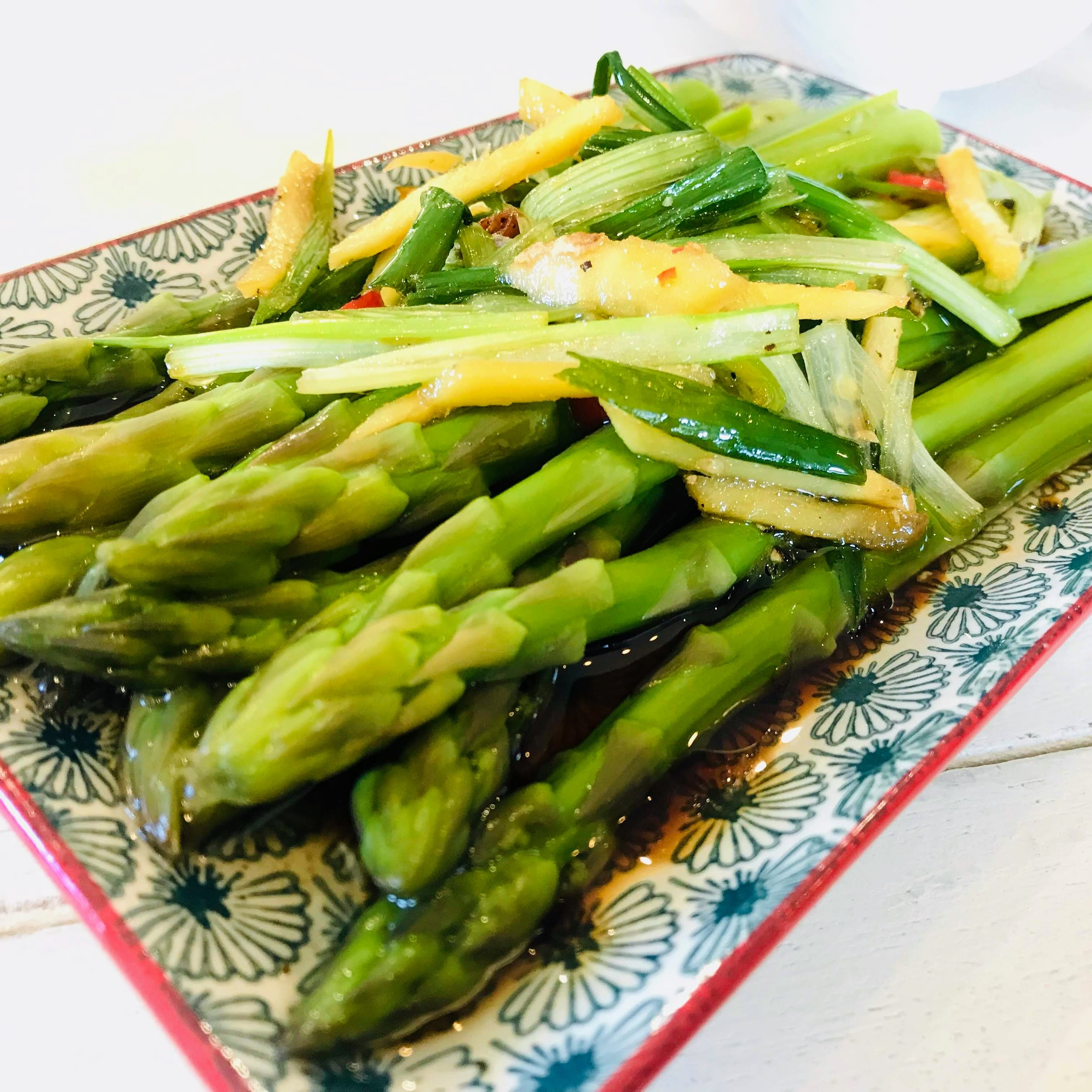 Asparagus Salad with Ginger & Spring Onion