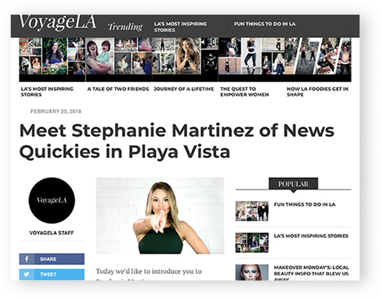 Voyage LA - Meet Stephanie Martinez of News Quickies in Playa Vista