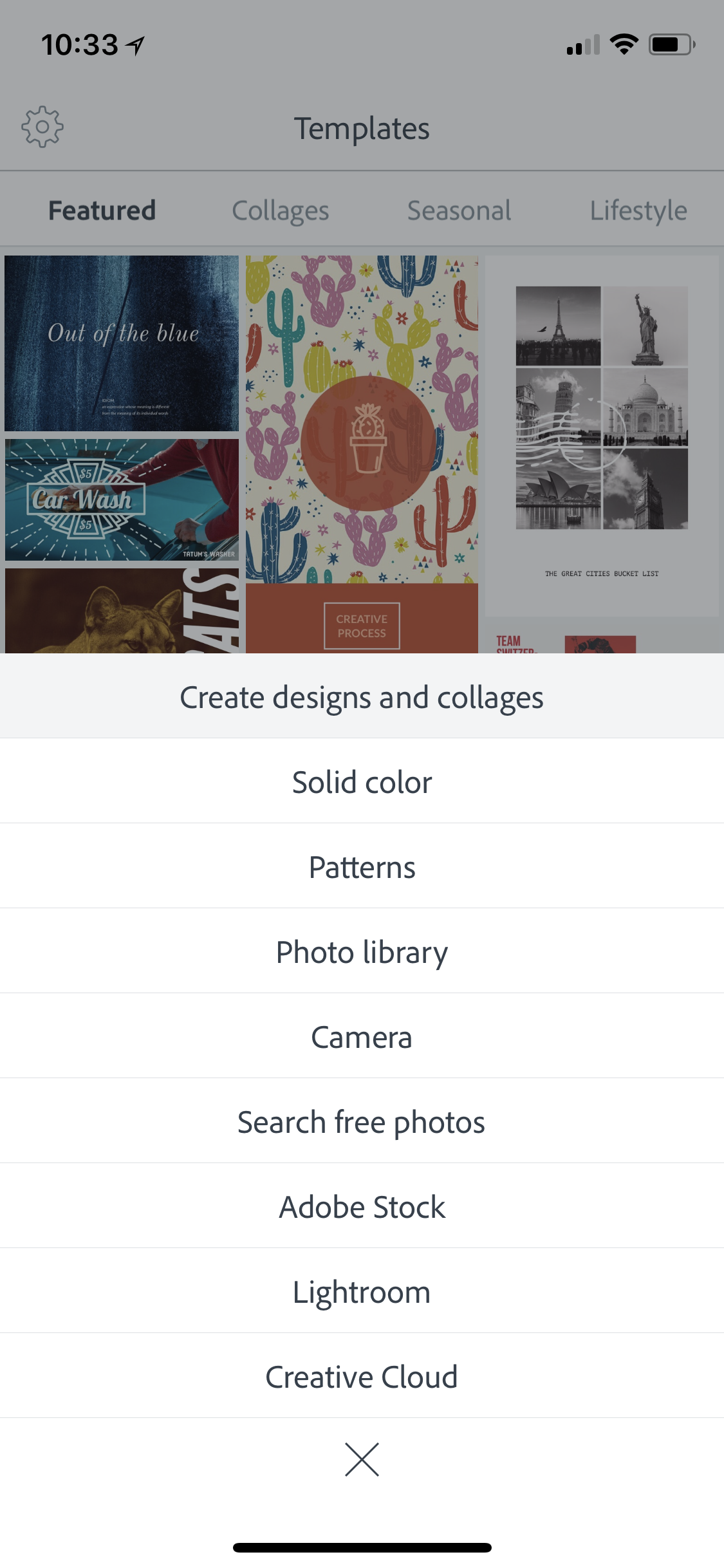 Step 2: - When the options screen pops up, choose 'Solid color.'