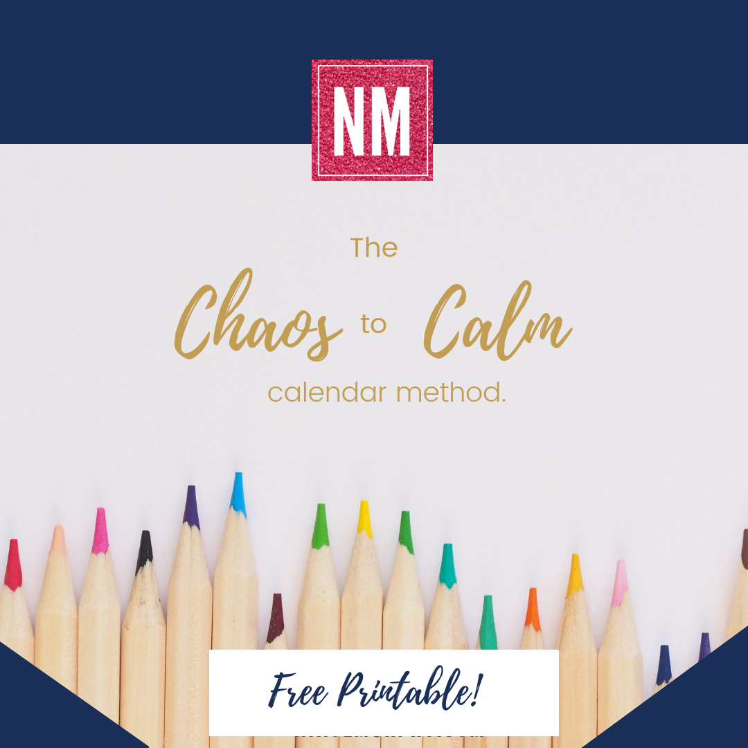 Can't seem to every feel organized? Always behind and forgetting things? Does life feel chaotic? Grab this free workbook created by nikol murphy after hearing the frustrations of other busy moms. take control of your schedule and your day and turn your chaos into calm.