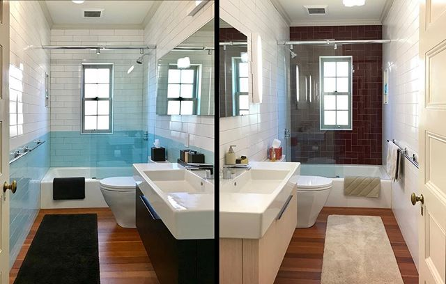 revisiting these sweet twin (or not quite twin) bathrooms that we completed in 2014 for our lovely clients in Newton MA.  part of a larger renovation which is now in phase-2. keep an eye out, this is a nice one.  #jka-newton  #newtonma #newton  #bathroomdesign #bathroomremodel