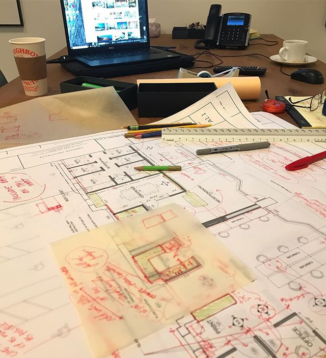 """""""red-mark day"""" at jka. digging in to technical documents for future chefs. @futurechefs  #jkafuturechefs #futurechefs #futurechef #roxbury #lounge #teachingkids #teachingkitchen #chef #bostonfoodies #architecture #archisketch #boston #southboston"""