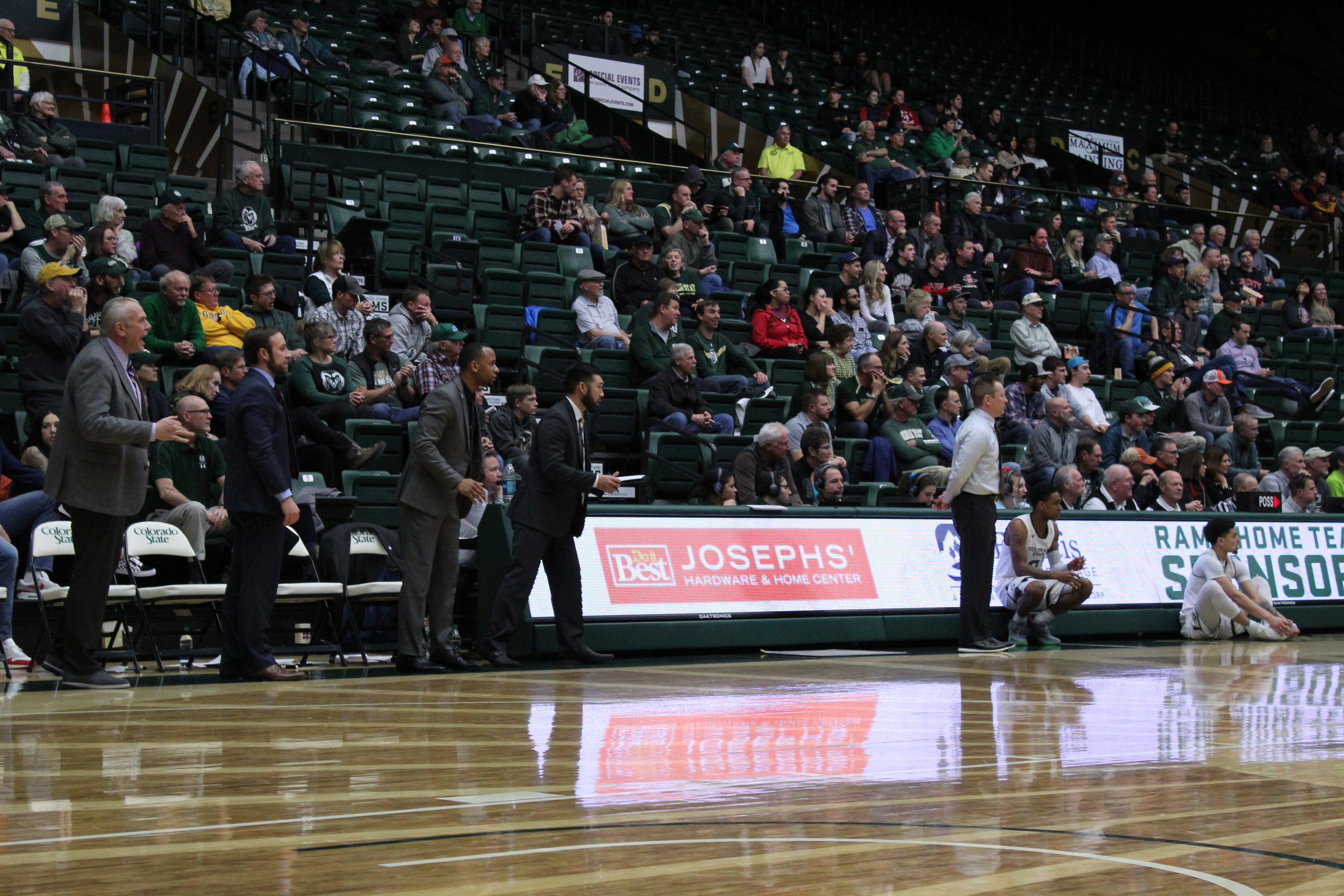 CSU coaches watch on as the Rams take on the San Diego State Aztecs.   PHOTO:    Justin Michael | Rams Report