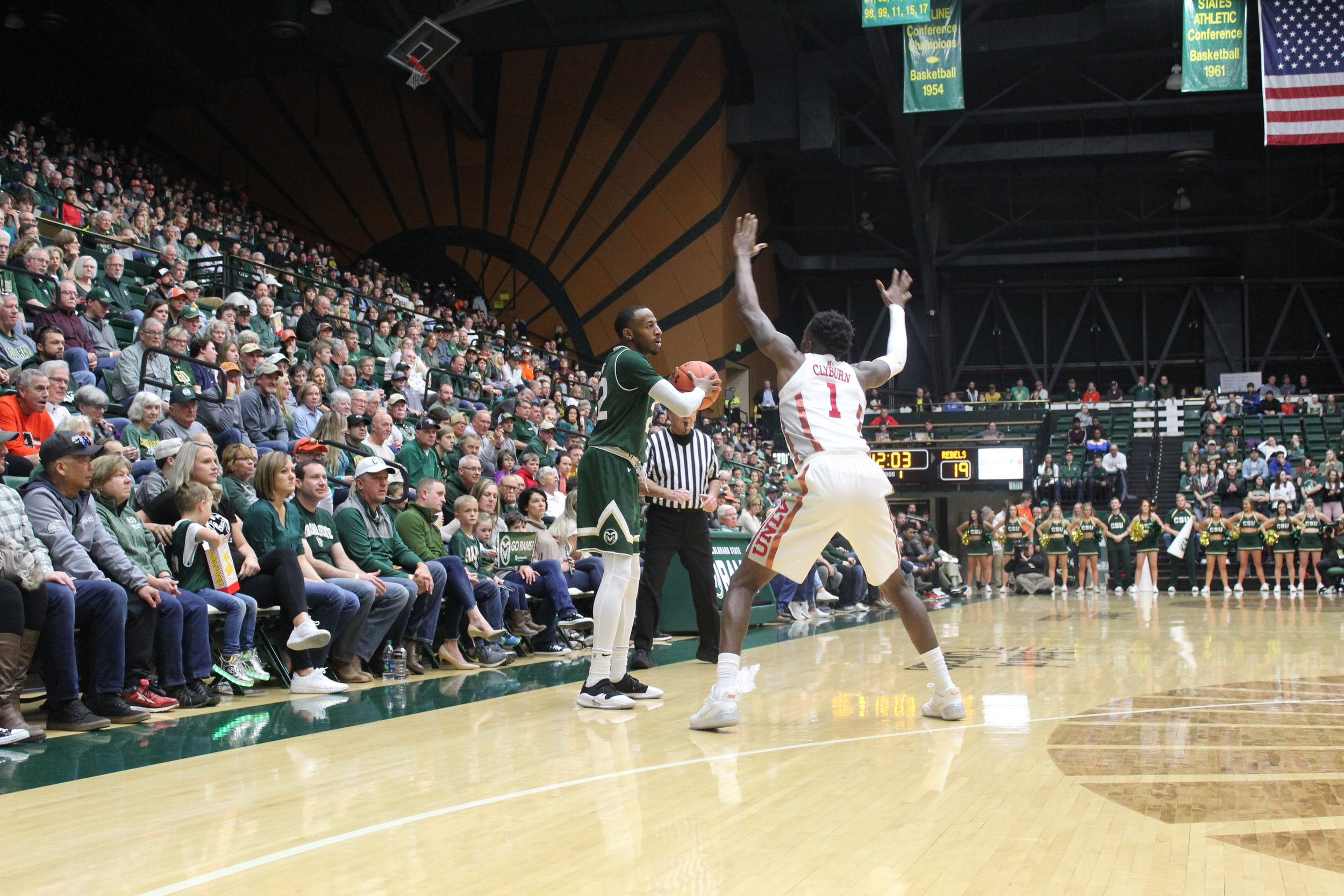J.D. Paige prepares to shoot a 3-pointer in the first half of Saturday's game vs. UNLV.