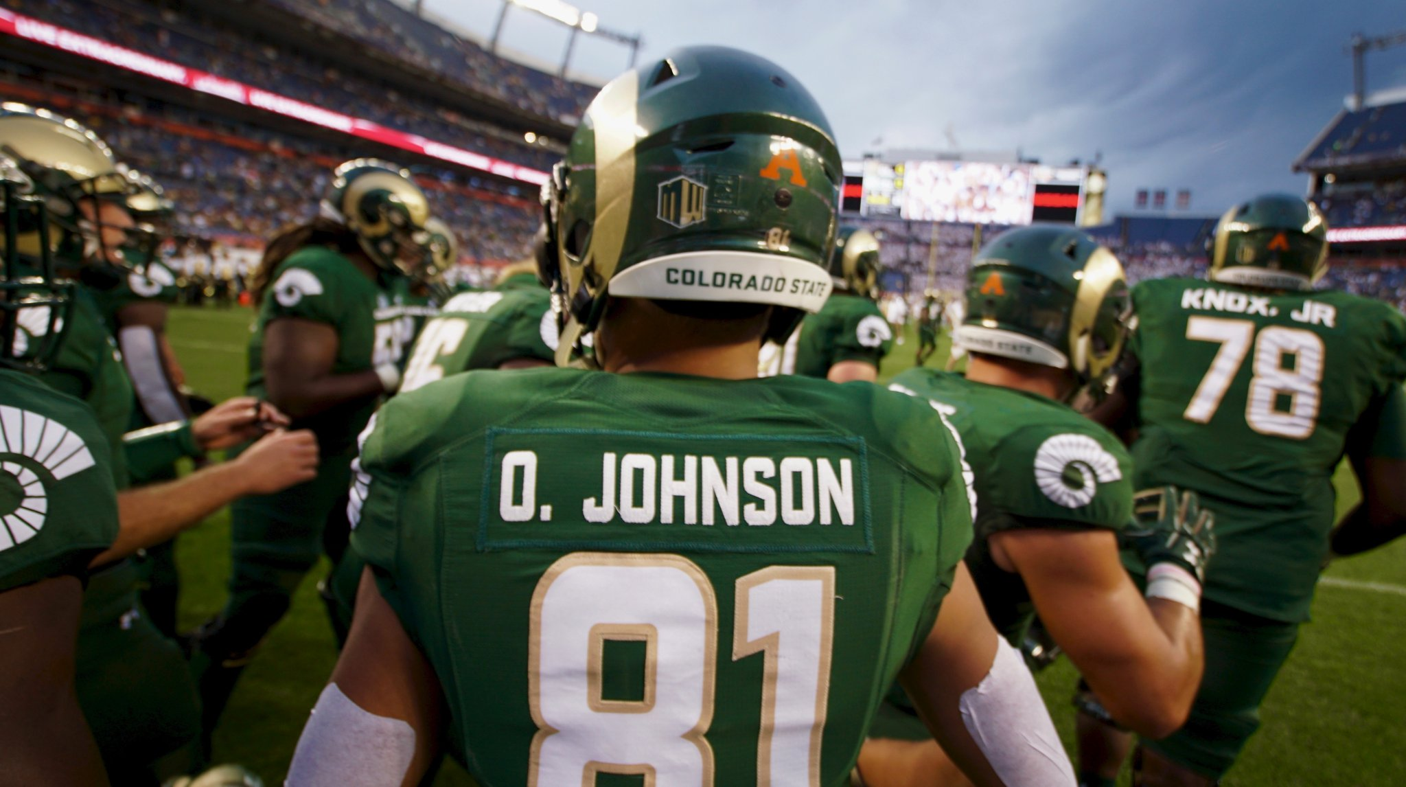 Olabisi Johnson prepares for his final Rocky Mountain Showdown as a Ram.   PHOTO:   Ryan Greene | @RyanCBS4