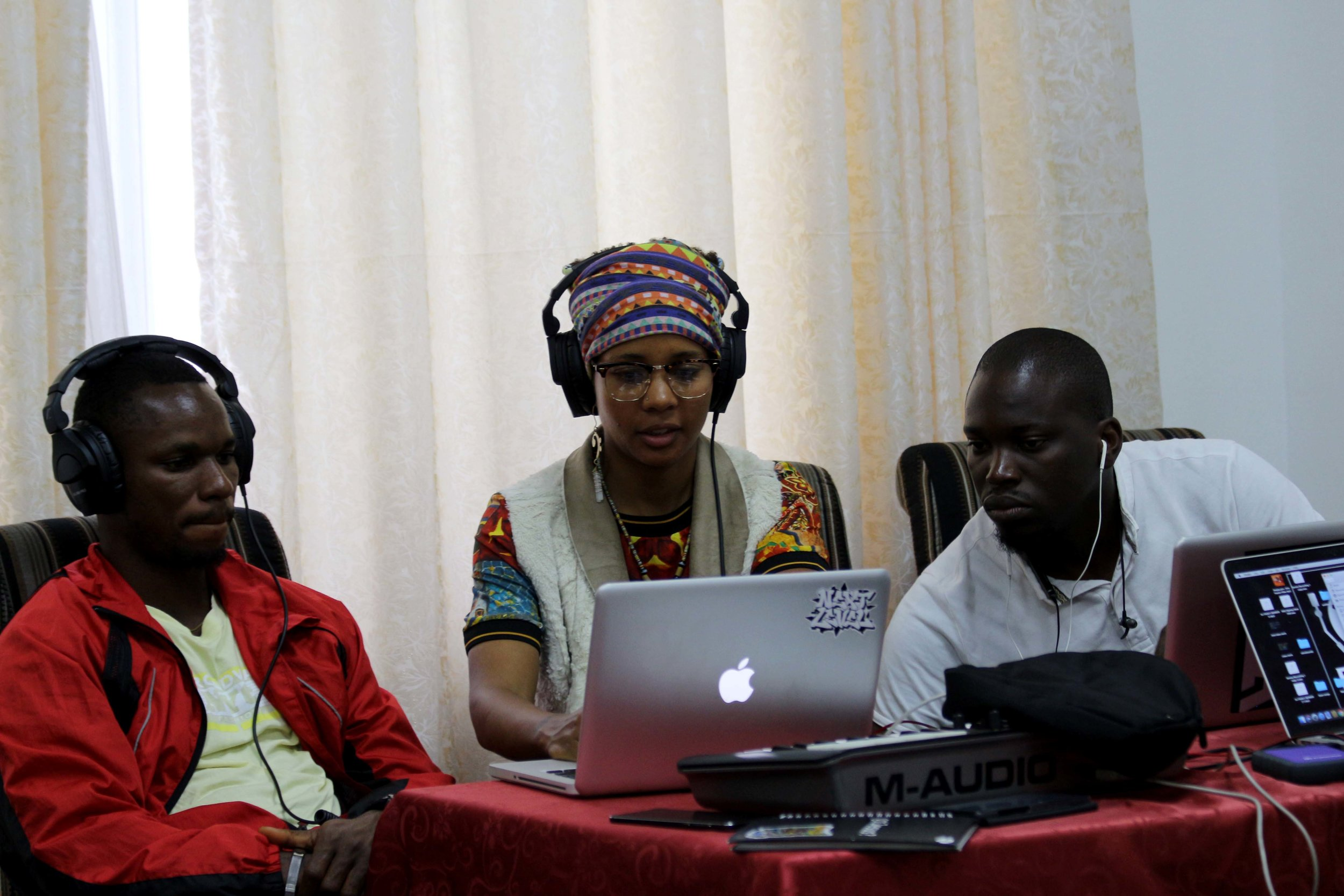 The Beatmakers at work at the  workshops beatmaking session, Asokoro, Abuja, Nigeria.jpg