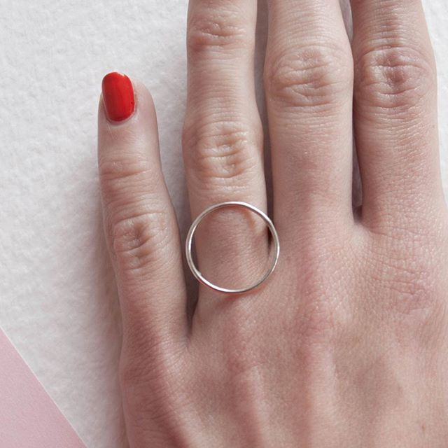 Did I mention I love circles ⭕️ My Circle Ring is still my best seller. Available to order from my online shop . . . . . . . #circlering #circle #ring #bestseller