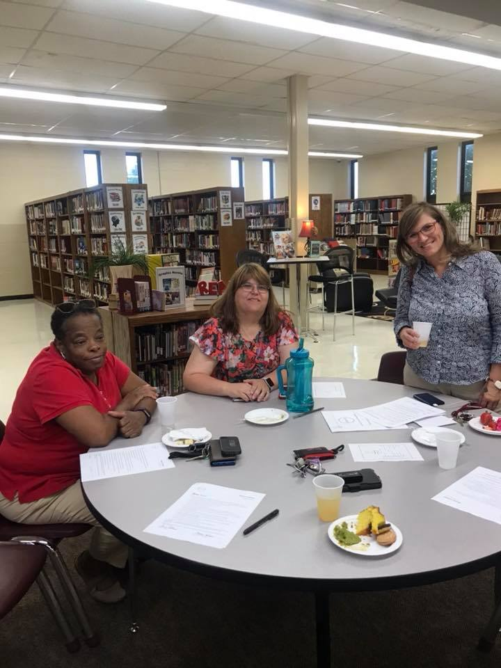 2018-2019 Orientation  Left to Right: Ms. Valley (training coordinator), Ms. Goodman (BHS faculty member & potential volunteer), Mrs. Langston (parent)