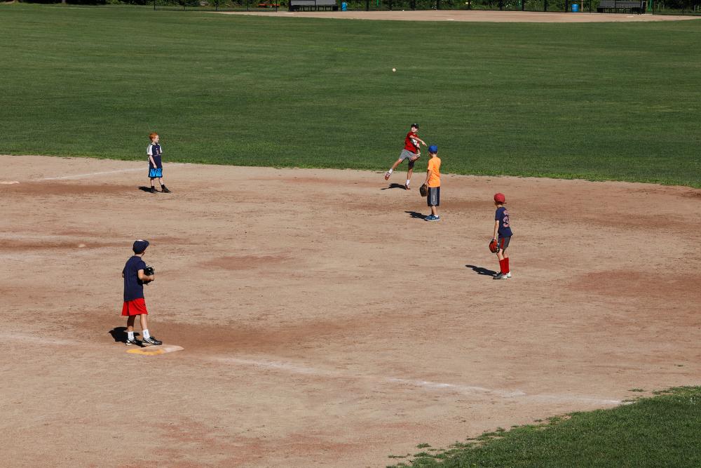 Baseball and softball diamonds