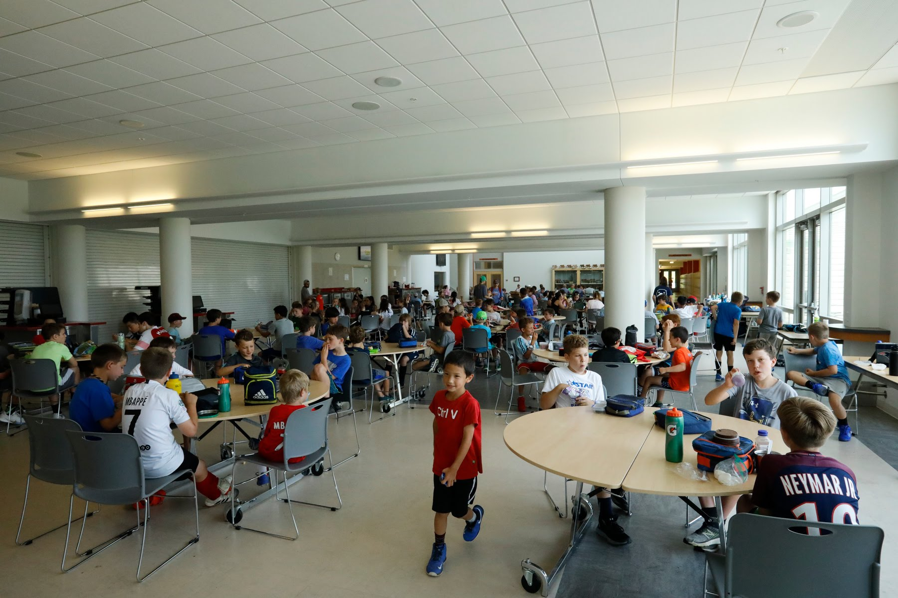Large air-conditioned indoor gathering spaces