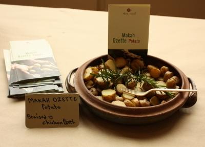 Makah Ozette potatoes at the April 2012 member potluck