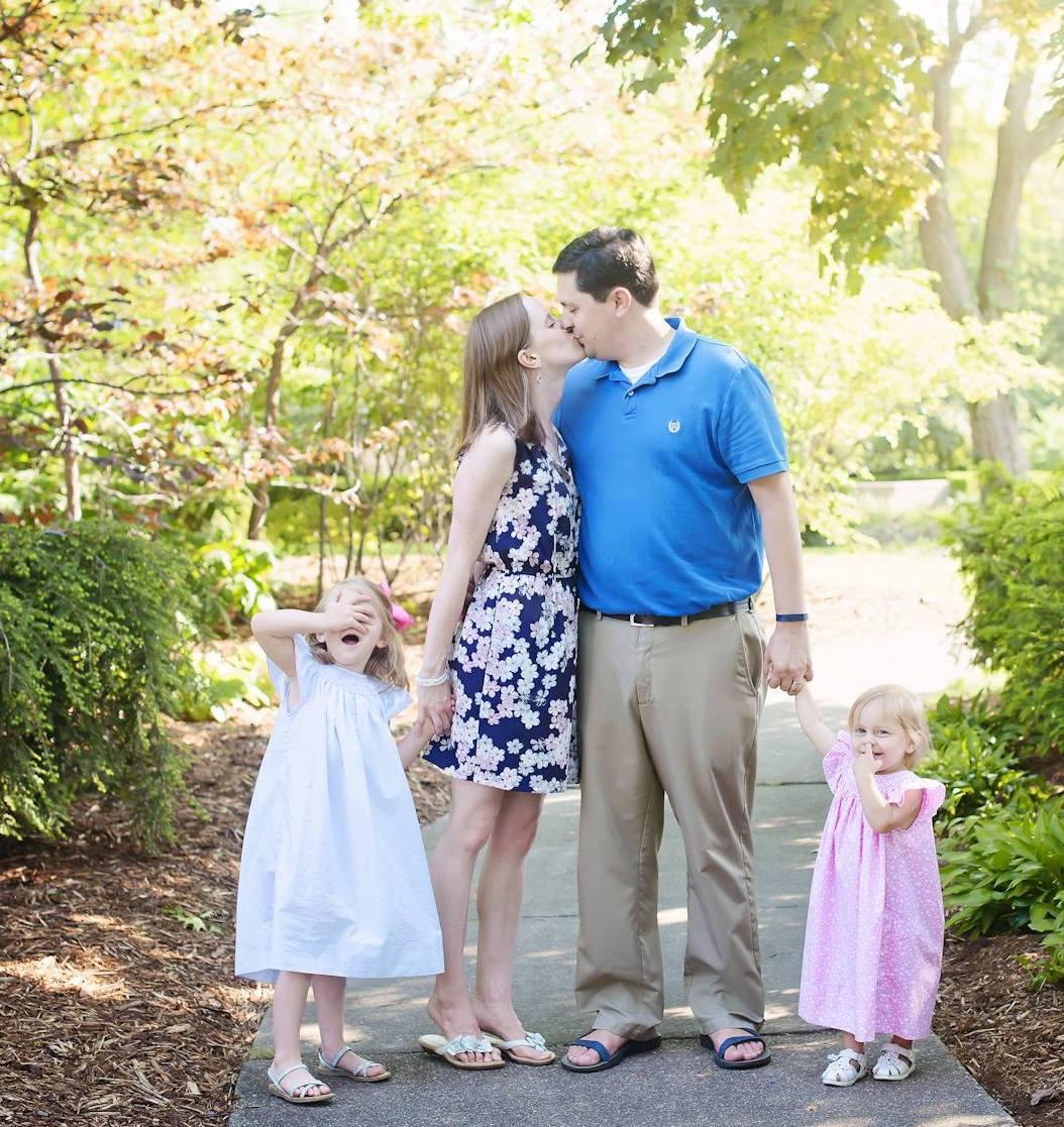 Pastor Matt and his family, spring 2018