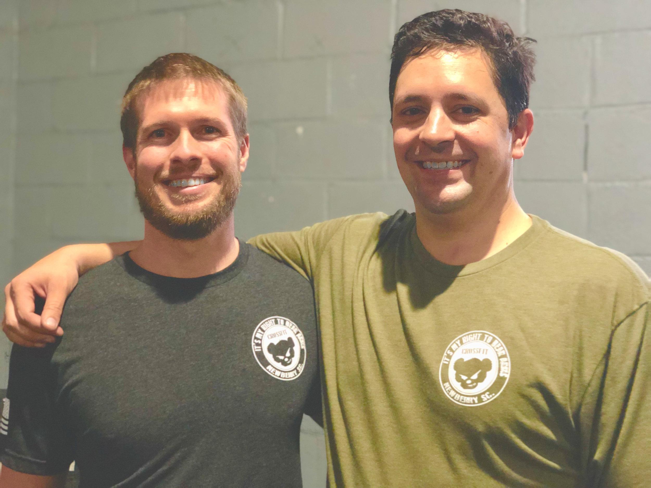 Ryan Smith and Pastor Matthew Titus at Bear Arms Crossfit
