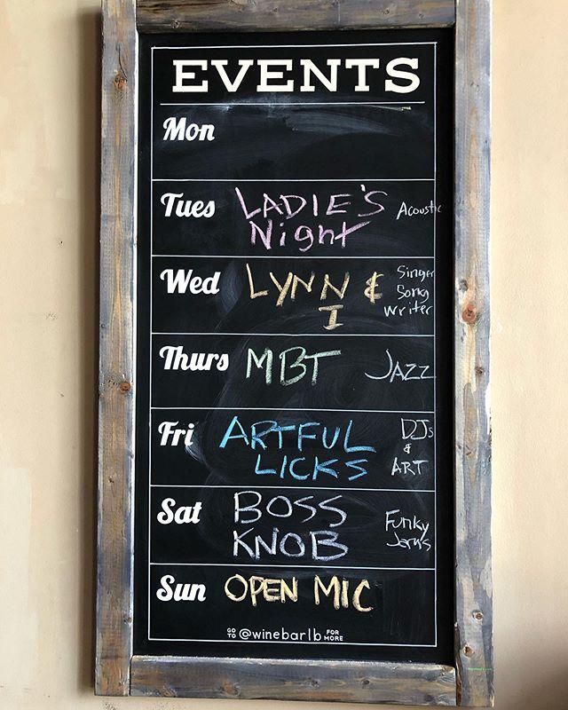 Eventful week 👉🏽 #ladiesnight #lynnandi #MajicBulletTheory #jazznight #ArtfulLicks #BossKnob #funkyjams #openmic #winebar #winebarlb #lbwinebar #dtlb #lbc #longbeach #thewinebar
