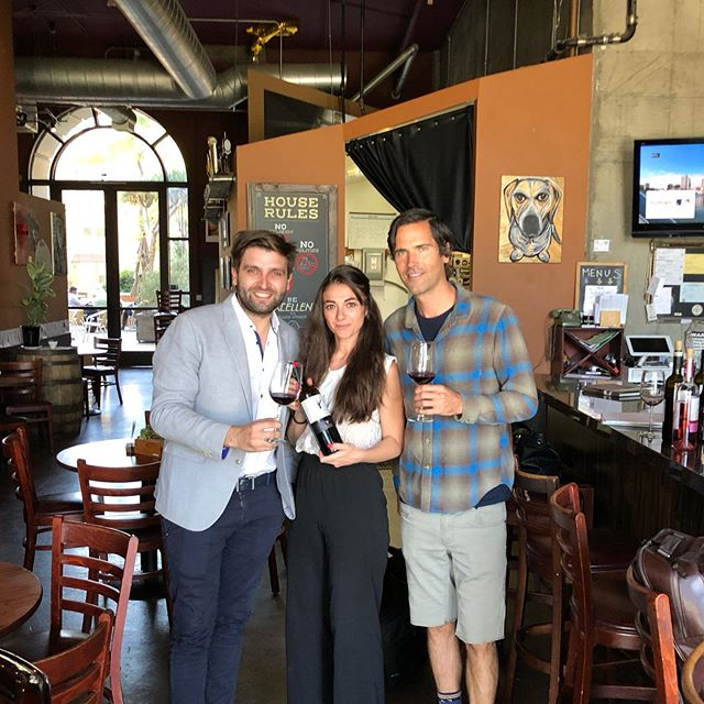 Meeting the winemaker is always an honor and we put this guy's Nero d'Avola above anybody's! 🍷 HH on Nero d'Avola all day today #strawberrynotes  #nerodavola @fondoanticowinery #italianred #sicily #sicilianred #winebar #winebarlb #lbwinebar