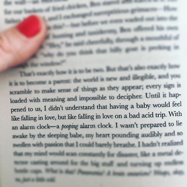 So excited to finally read #waitingforbirdy after crying my eyes out reading #catastrophichappiness. Page one and I'm already nodding my head...#catherinenewman is my spirit animal.  #momlife #mumlife