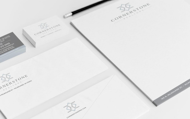Golden-Antler-Design-Milwaukee-Web-Branding-Marketing-Cornerstone-Realtors-Stationary-Business-Card-Letterhead-Envelope
