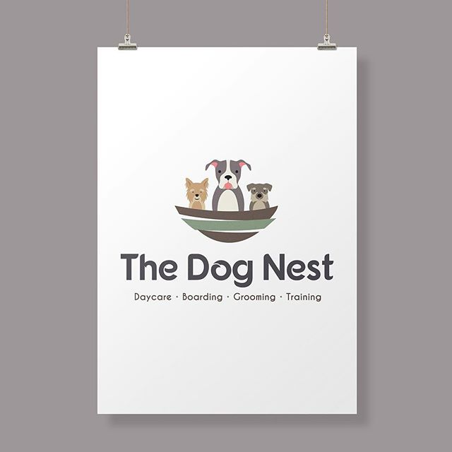 Logo Design for The Dog Nest - Doggy Daycare in Pewaukee, WI 🐾 - — - Need a logo? Contact @goldenantlerdesign - — - goldenantlerdesign.com - — - #logo #logodesign #dogdaycare #dogs #doggydaycare #branding #brand #marketing #design #graphicdesign #graphicdesigner #print #web #creative #wisconsin #milwaukee #business #smallbusiness #consulting