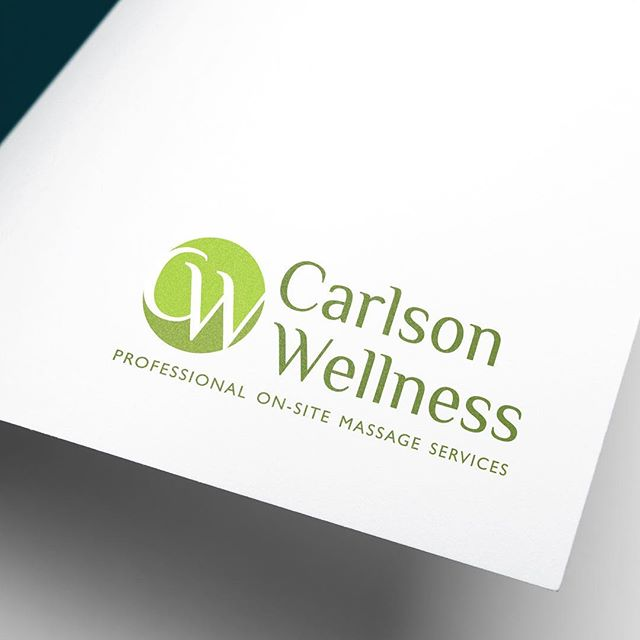 Logo Refresh for Carlson Wellness ✨ - — - Could your brand or logo use a modern touch? Contact @goldenantlerdesign for a fresh new perspective. 👉 GoldenAntlerDesign.com - — - #logodesign #graphicdesign #design #designer #logodesinger #monogram #graphicdesigner #massage #wellness #milwaukee #wisconsin #clean #minimal #web #print #branding #brand #glyph