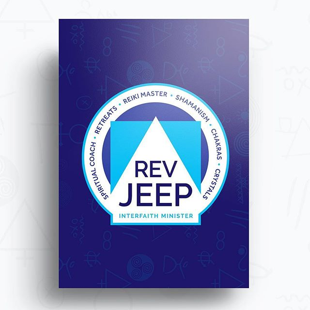 Logo design for Rev Jeep in New York, NY - — - Web design here: RevJeep.com - — - For creative services, visit: GoldenAntlerDesign.com - — - #logo #logodesinger #branding #designer #graphicdesign #graphicdesigner #creativeservices #designservices #milwaukee #wisconsin #newyork #interfaith #minister #spirituality #retreat #spiritualcoaching #webdesign #symbols