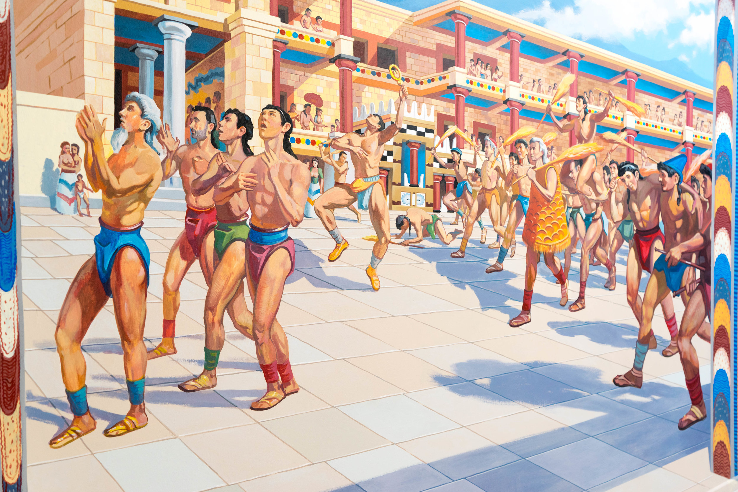 - The Minoans had agricultural festivals in their palaces all over Crete that lasted 120 days.
