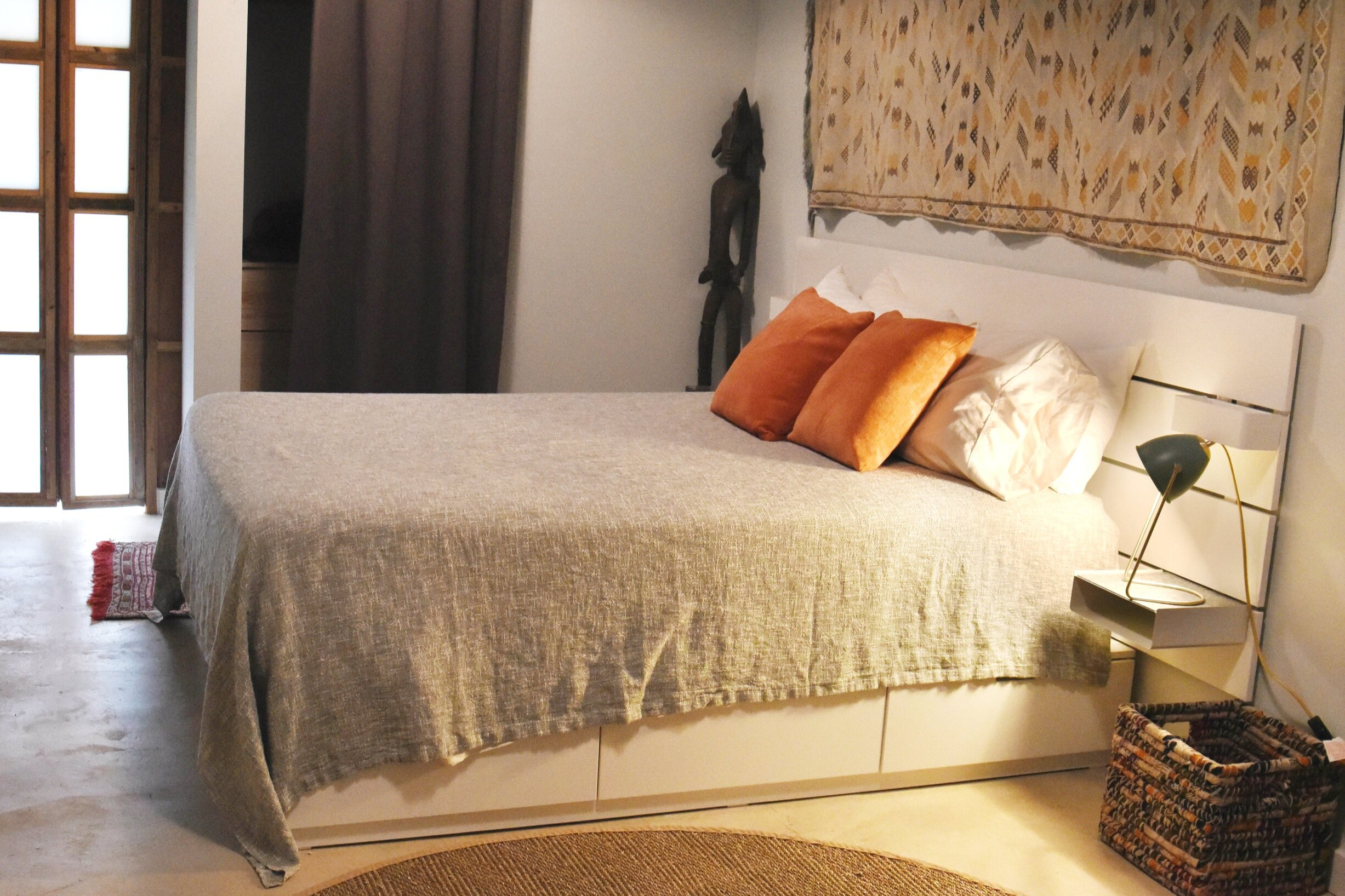The Bodega House Damasco Room is a wonderful escape offering luxury and privacy.