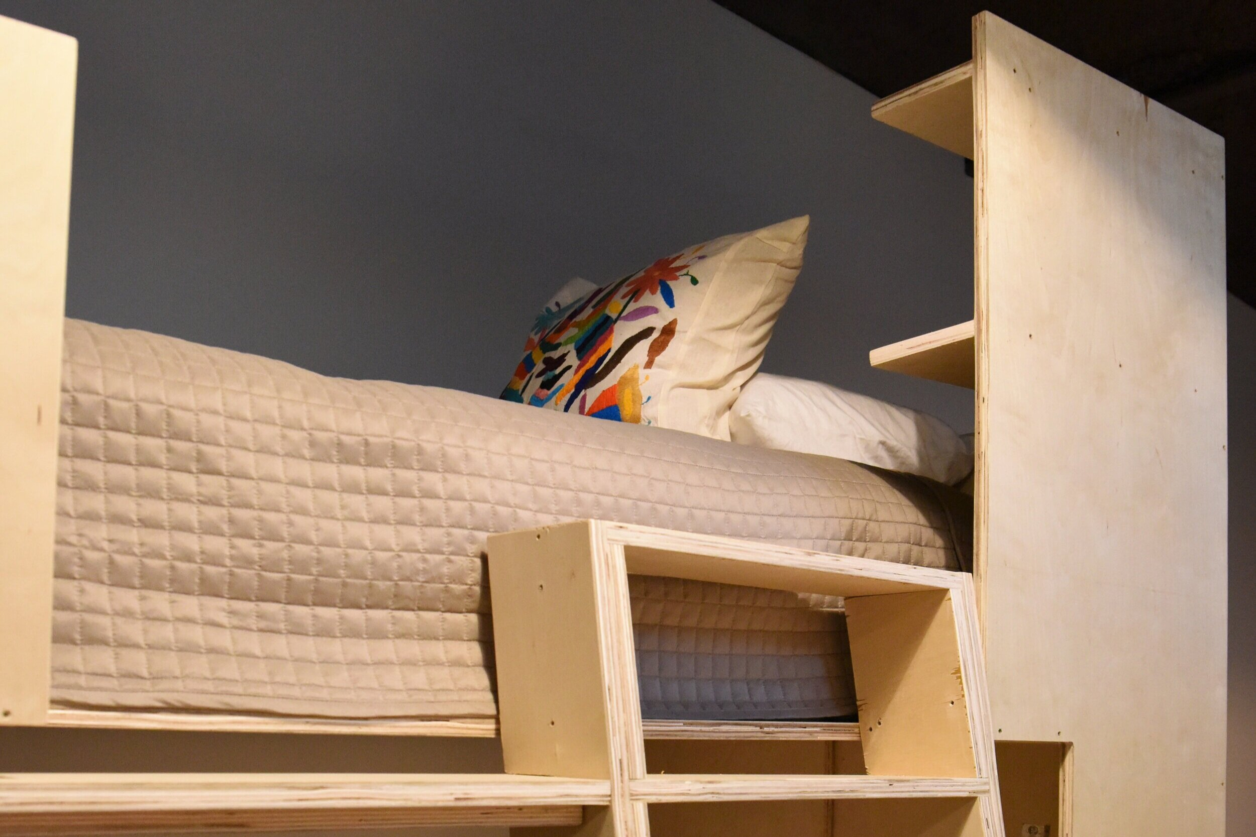 The Bodega House Ranchito Bunk Bed Room has four bunk beds and is a fun escape for all ages.