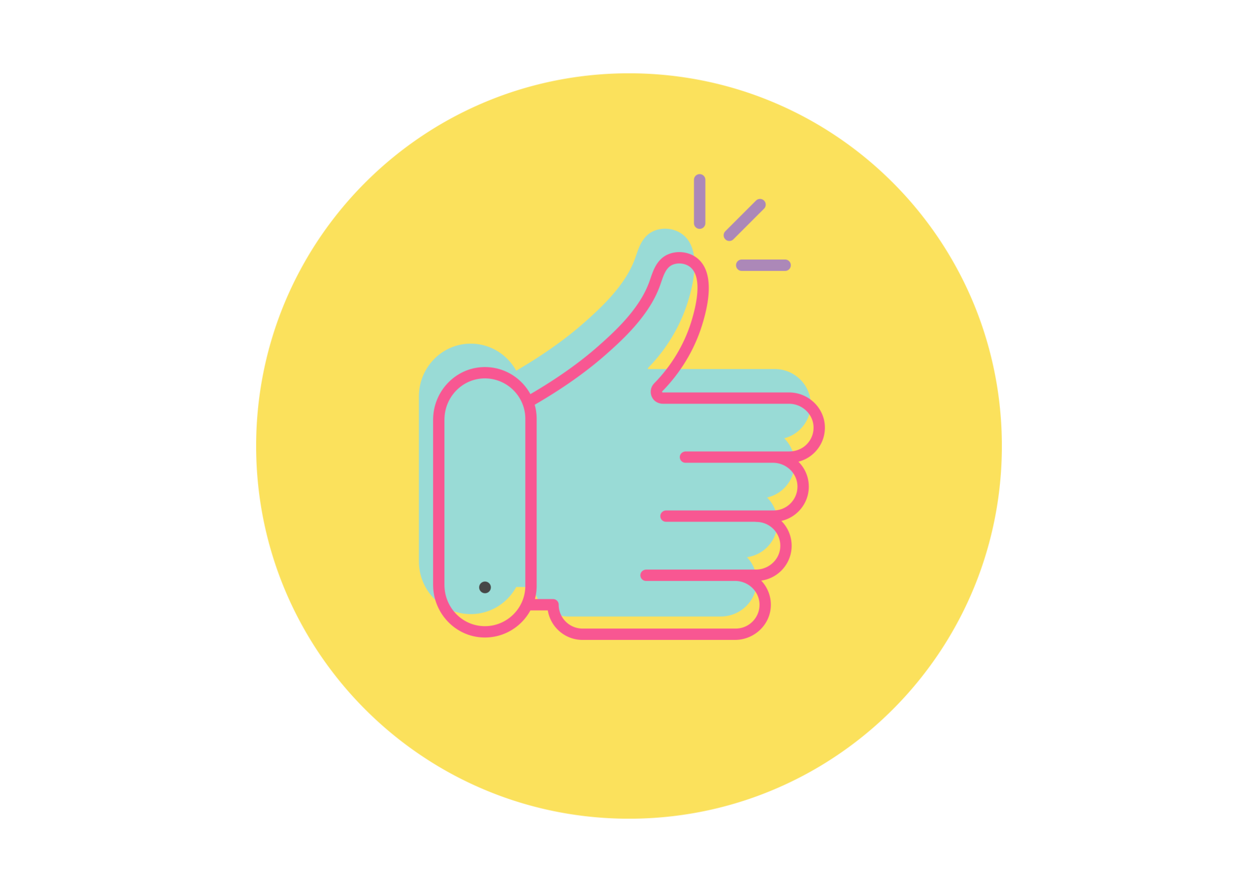 Thumbs up icon for qualified and vetted caregiver jobs working with special needs