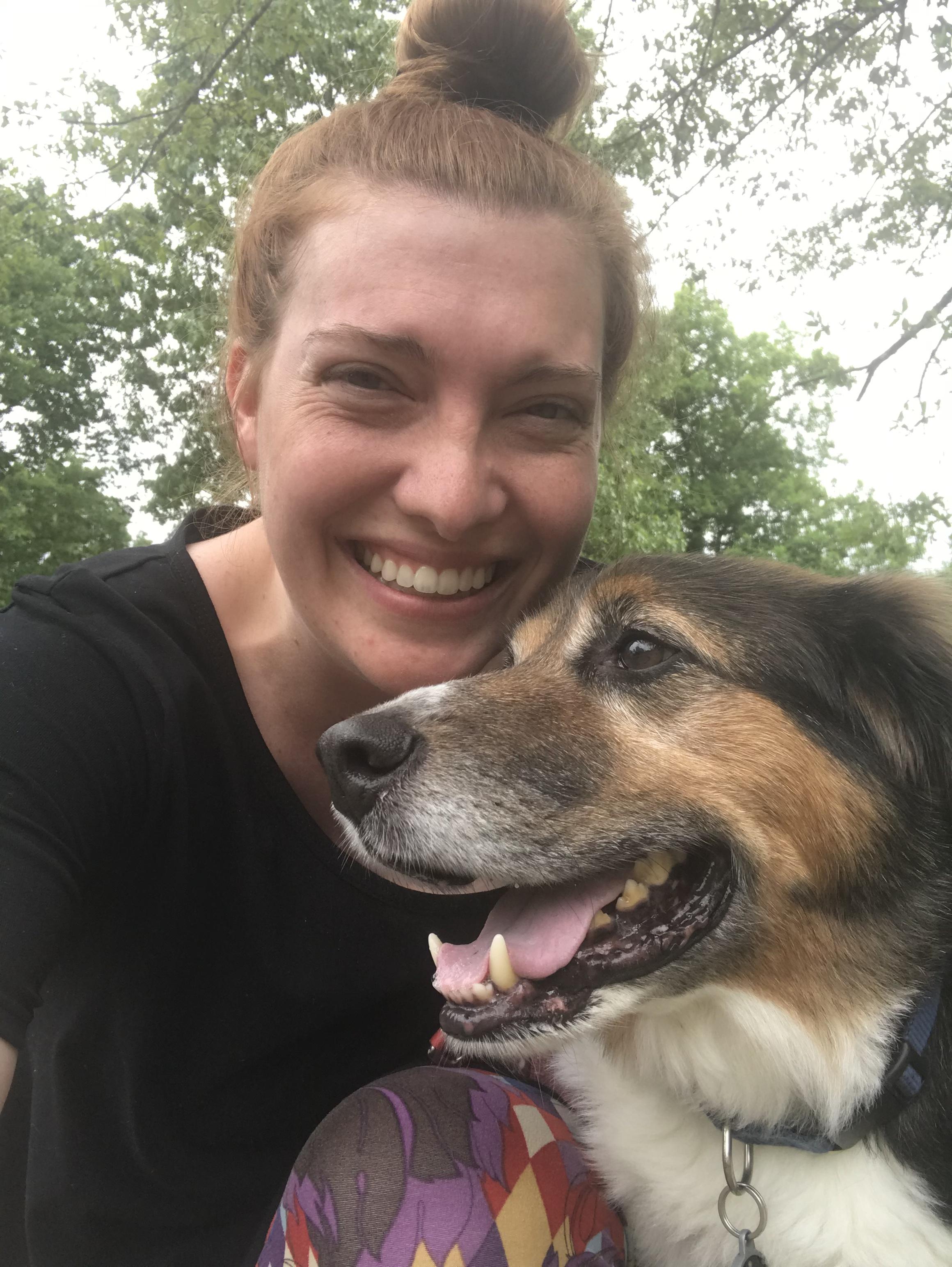 Liz and Boba on a walk!