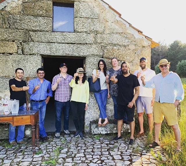 Portugal Tour 2019 is passing through the #DAO region with organic winemaker @juliakemperwines #wimtour19 #drinkmoreportuguesewine #organicwine #juliakemper