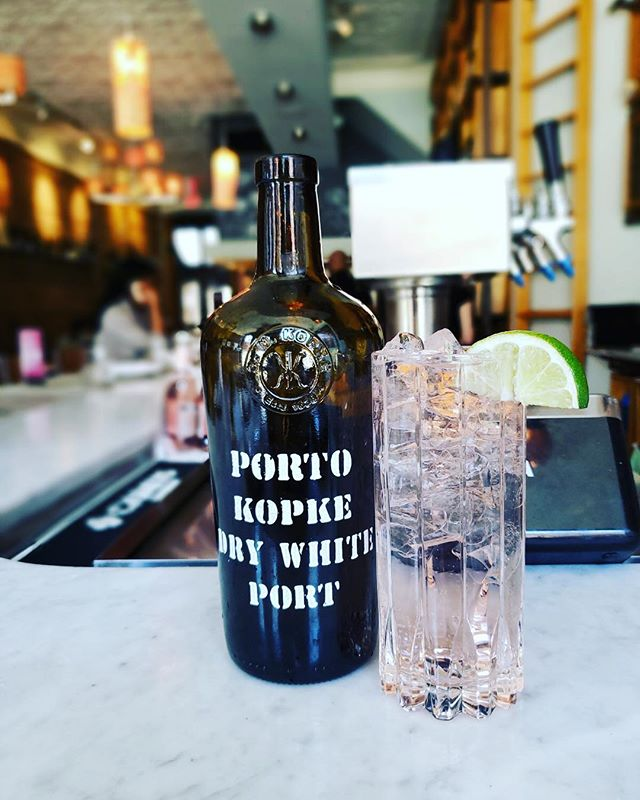 New featured cocktail @bin14winebar #hoboken #kopkeport #portotonic #drywhiteport #springcocktail