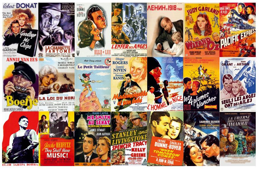 Les Résumés des films et des extraits des critiques de la presse de 1939 -