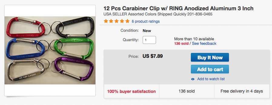 mini carabiners for the big wall bivy