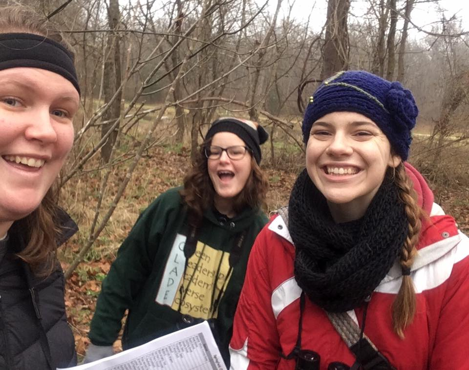 Christmas Bird Count Team GLADE, spent their time counting birds at Ritter Spring Park in the Springfield Circle.