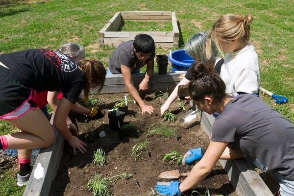One GLADE grad designed and installed a garden at her high school offering nutritious food to the community. Photo: A.D. Daniels.