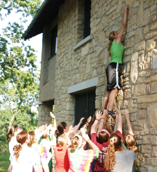 Reach for the Sky builds group trust and team-working skills. Photo: Greg Swick.