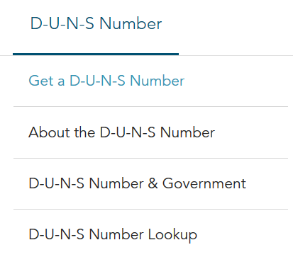 DUNS Number