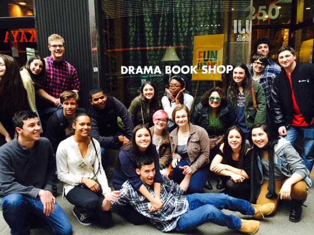 AHS Drama Club at  The Drama Bookshop  in New York City, 2015.