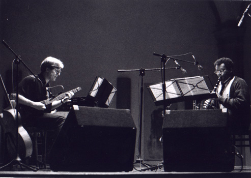 left to right James Emery, Anthony Braxton  Florence photo by: Luca Conti
