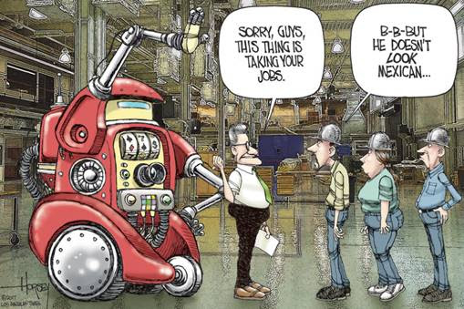 source:   Robots, Not Immigrants, Are Taking American Jobs - LA Times