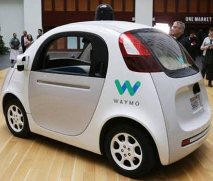 source:   Waymo's Fully Autonomous Modules (owned by Google) on California Roads Next Year - LA Times