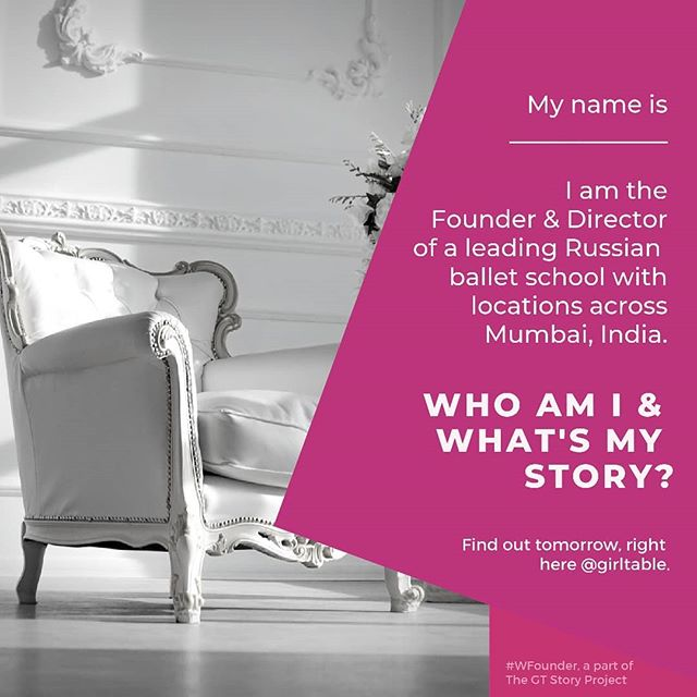 This week in W.Founder, we're showcasing an entrepreneur in the performing arts space in #Mumbai, India. Check back tomorrow to see who she is and to read her inspiring story!  #GirlTable #GirlPower #GTStoryProject #WFounder