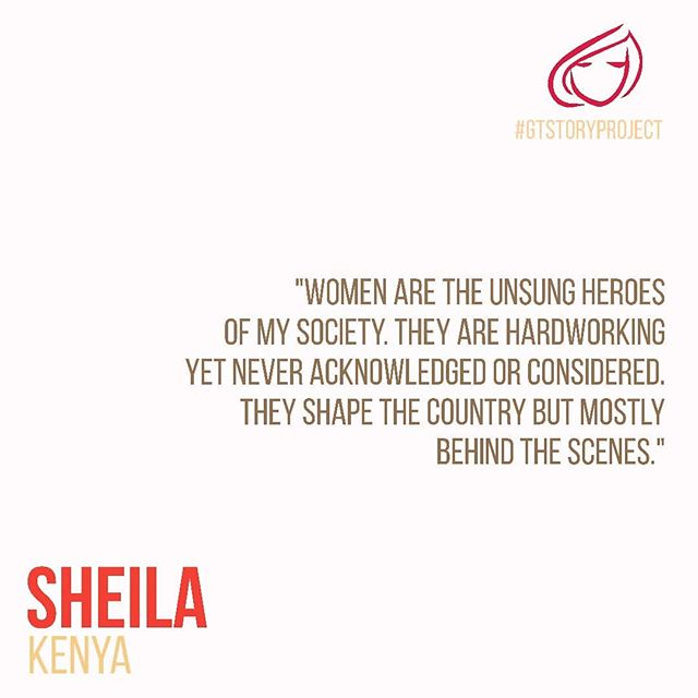 Sheila (@millennial_mom_ke), sharing her story and her POV on the role of women in #Kenya.  Read her full story at girltable.com/gtstoryproject  #GTStoryProject #GirlTable #GirlPower #LifeAsAWoman