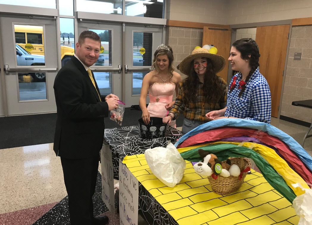 Greg Shull finds an opportunity to trick-or-treat and collect a bag full of candy to return to Central Services to personally devour
