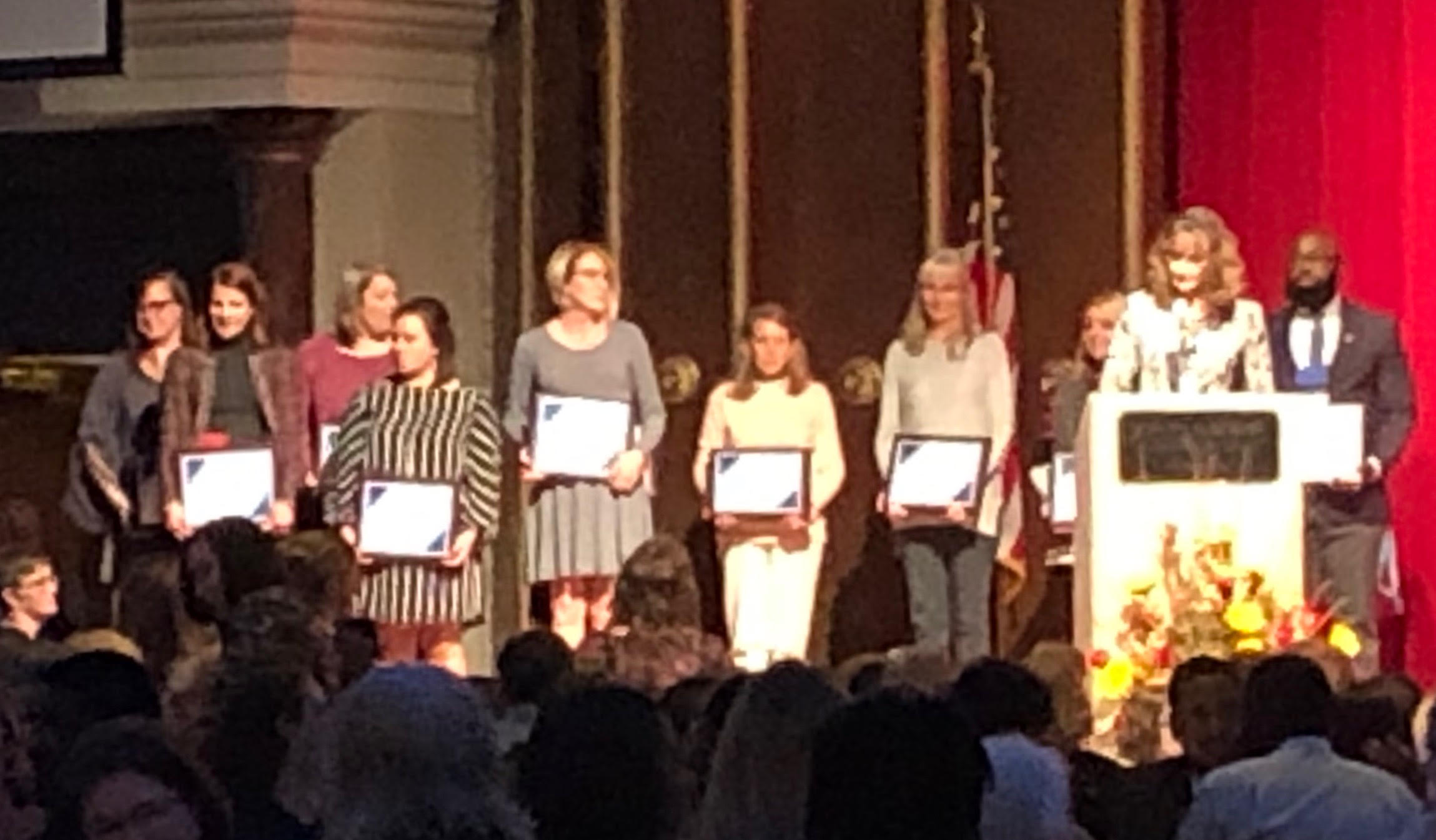 Front Row, Fourth from the Left: Heather Parker, EC Teacher of Excellence