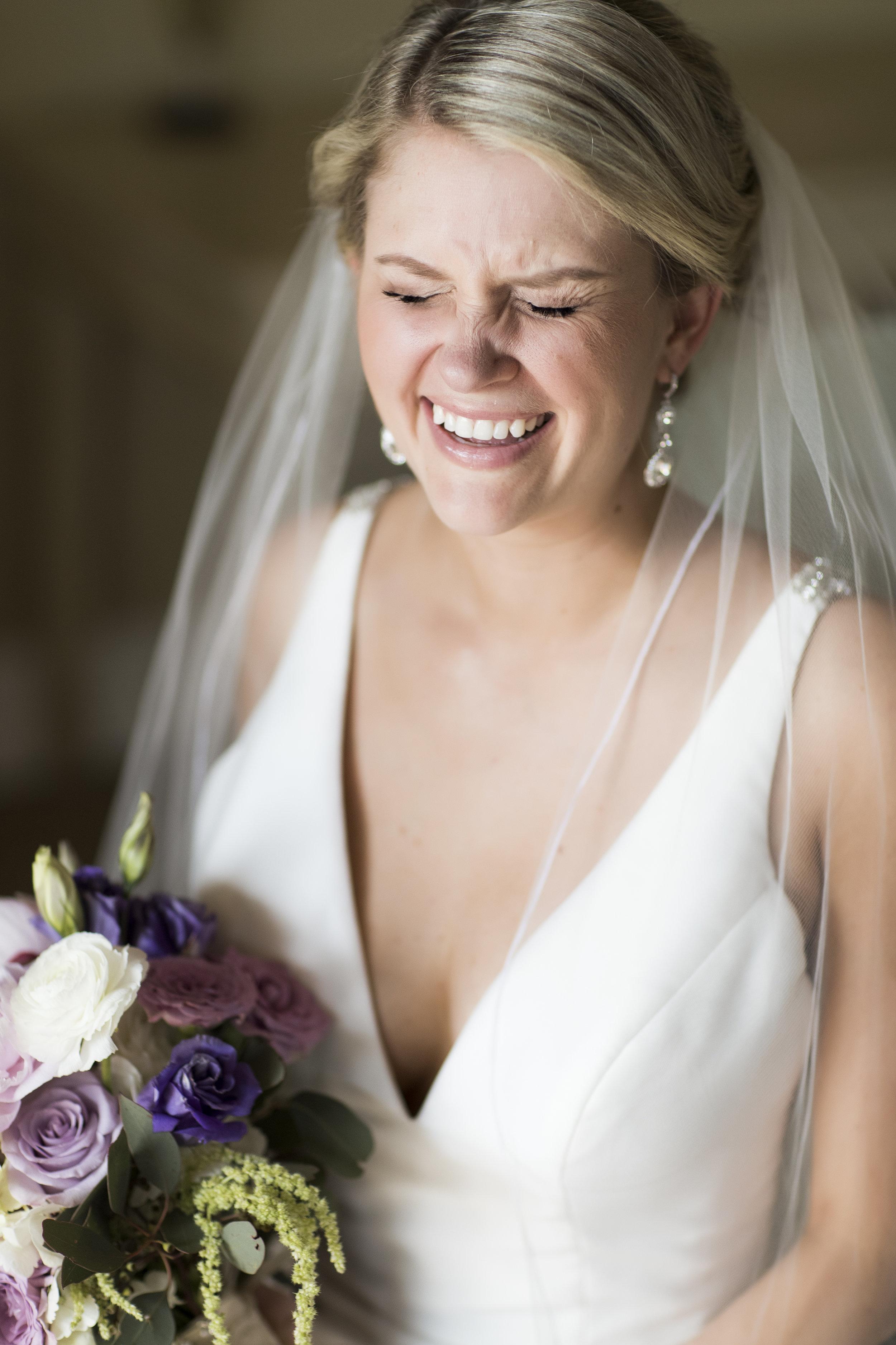 Megan K Event Bride Giggling