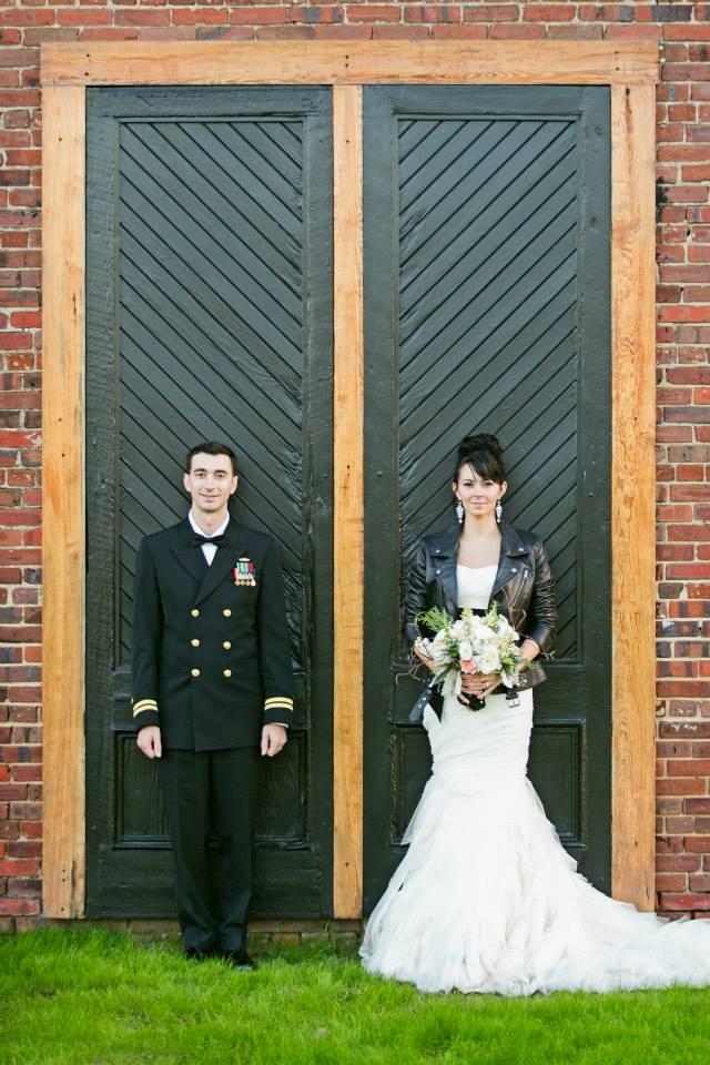 Bride Leather Jacket Megan K Event Planning